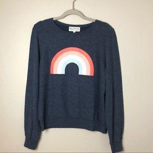 NWT Wildfox Rainbow Pullover Sweatshirt